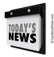 Todays News Calendar Update Information Important Alert - A...