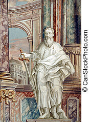 Saint Paul, fresco in the church