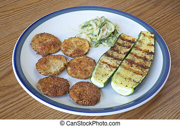 Zucchini Cooked Three Ways - A plate of zucchinni cooked...