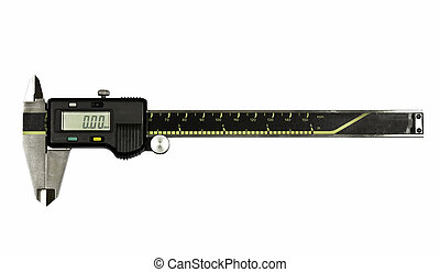 vernier - Vernier,measurement tool,on white background