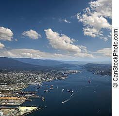 Vancouver - Port of Vancouver in Burrard Inlet, Canada