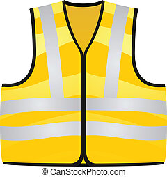 Yellow vest isolated on the white b