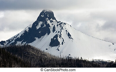 Ragged Pointed Mountain Peak Mt. Washington Oregon Cascade Range