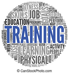 Training and education related words concept