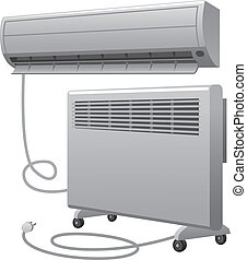 air conditioning and oil heater