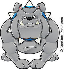 Cartoon Bulldog - A vector illustration of a cartoon...
