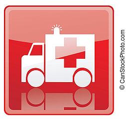 Ambulance sign icon
