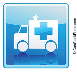 Ambulance sign icon