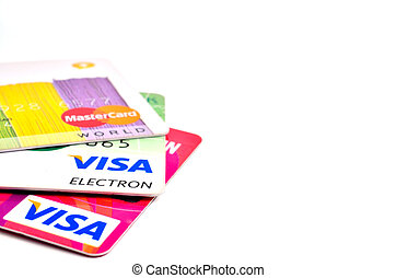 credit card on a white background