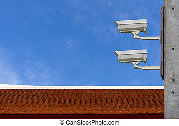 CCTV - Check the movement of the traffic cameras. The sky as...