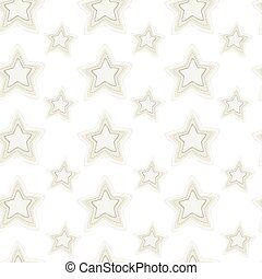 Seamless pattern of stars with hand embroidered stitches