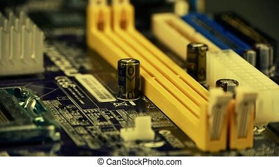 computer motherboard,electronic circuit board.