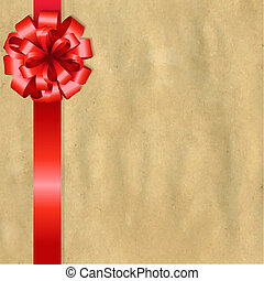 Vintage Paper With Red Bow