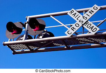 Overhead Railroad Crossing Signal