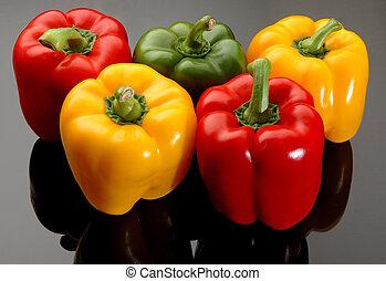 coloridos, sino, pimentas