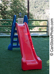Playground Slide - A colorful children playground