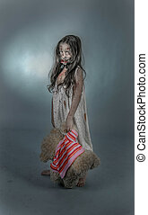 zombie girl - is a zombie girl dressed in a nightgown