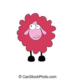 sheep cartoon vector illustration part two