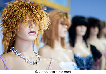 Mannequins - Group of Fashion Model Mannequins.