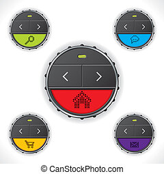 Cool button designs with color leds
