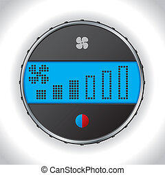 Car climatronic icon with fan adjustment setting