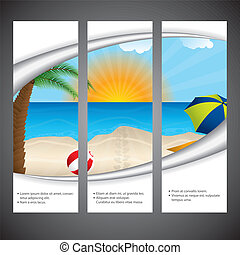 Summer flyer design set - Summer flyer design set for...