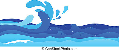 Ocean Waves - Illustration of ocean waves