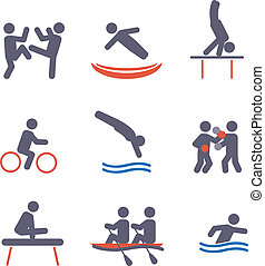 Sport icons  - Sport icons. Vector set for you design