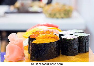japanese sushi - Japanese restaurant. Traditional dishes of...