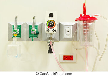 Medical devices Oxygen, suction wall