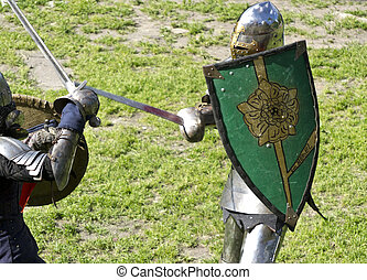 duel of knights in a jousting tournament