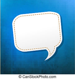 Blue Texture With Speech Bubble With Gradient Mesh, Vector...
