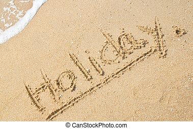 Feiertag, sandstrand