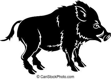 Stylised boar illustration