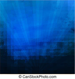 Dark Blue Texture With Sunburst With Gradient Mesh, Vector...