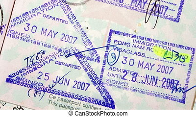 Passport Travel Stamp - Passport stamps for a variety of...