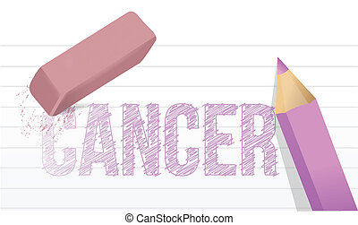 erase cancer concept illustration design over a white...