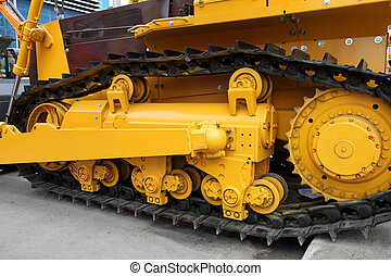 Caterpillar of a modern tractor - Caterpillar of a modern...