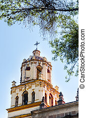 White Church Spire - Spire of a church in Coyoacan...