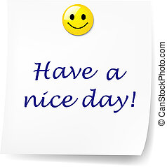 Blank Sticky Note With Have A Nice Day