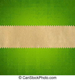 Grunge Green Paper Background With Gradient Mesh, Vector...