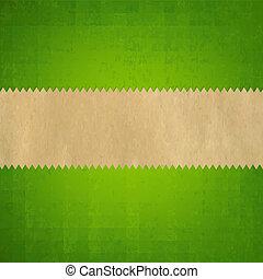 Grunge Green Paper Background
