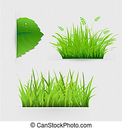 Set Of Dividers With Grass