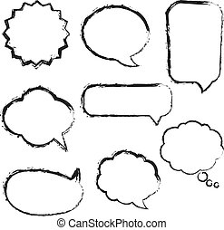 Big Set Speech Bubbles