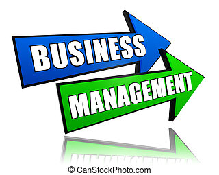 business management in arrows - business management - text...