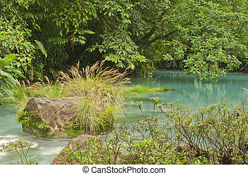Rio Celeste - Reactions of volcanic chemicals create the...