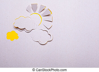 Sun and cloud origami - Image of abstract sun handmade.Eco...