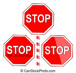 Stop Sign  - Vector illustration of Stop sign