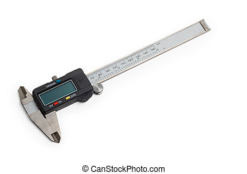 caliper gauge tool vernier white metal instrument measure...