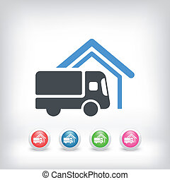 Van delivery concept icon